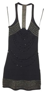 Arden B. Nye Holiday Sparkle Party Beaded Embellished Silver Dress