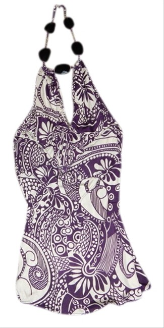 Preload https://item4.tradesy.com/images/sky-purple-and-white-jewel-halter-print-silk-night-out-top-size-8-m-1001873-0-0.jpg?width=400&height=650