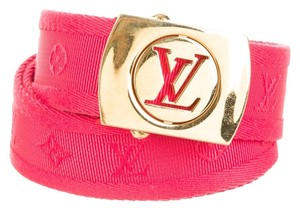 Louis Vuitton Red Louis Vuitton LV monogram canvas waist belt M Medium