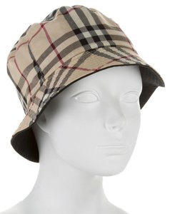 Burberry Tan, black, brown Burberry Nova check cotton bucket hat New
