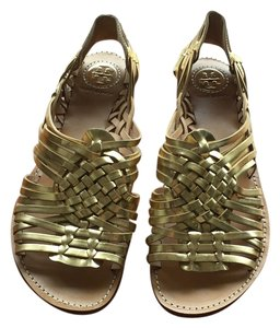 Tory Burch Sandals Gold Flats