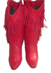 Dingo Cowboy Vintage Western Red Boots