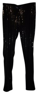 H&M Sequin Party Holiday Nye Cocktail Black Leggings