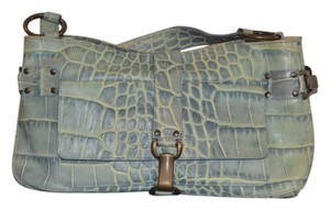 Kooba Croc Embossed Leather Shoulder Bag