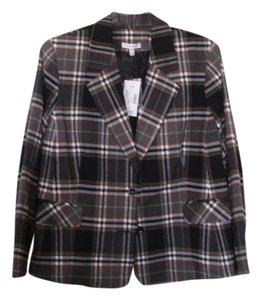 Fashion Bug Suit Black, white & red plaid Jacket