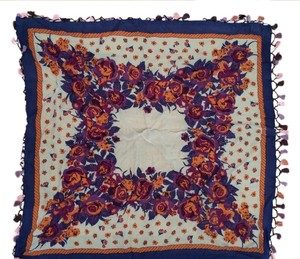 Anthropologie Anthropologie Rose Scarf with Trim