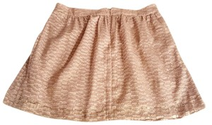 Gap Shimmery Mini Skirt Taupe