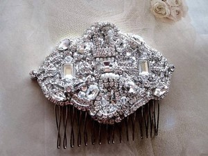 Other Vintage Inspired Bridal Crystal Hair Comb Brooch