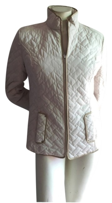 Item - Cream S Quilted Thinsulate Coat Jacket Size 6 (S)