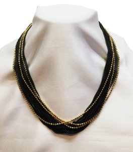 MONET Black Chains & Golden Beads [ Roxanne Anjou Closet ]