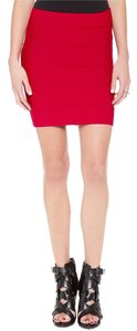 BCBGMAXAZRIA Bodycon Mini Bcbg Sexy Mini Skirt Red