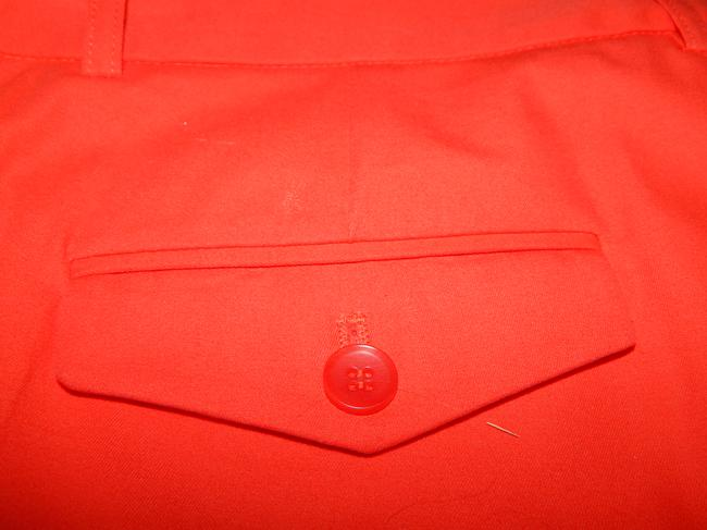 BCBG Max Azria Pockets Spandex Straight Pants Orange