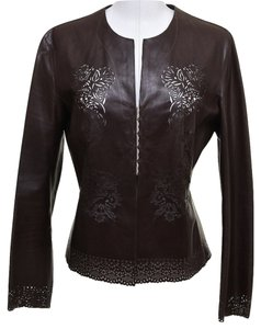 Victor Alfaro Brown Leather Jacket