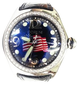 Corum Corum Limited Edition American Flag Bubble Watch No 005 With Aftermarket Diamond Bezel 2.50 Carats TW