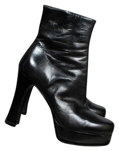Guess Platform Leather Black Boots