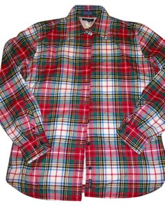 Façonnable Outerwear Button Down Shirt Plaid