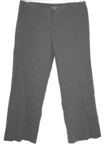 Theory Stretchy Linen Straight Pants BLACK