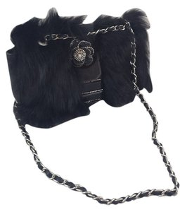 Fur Shoulder Flap Jewerly Flower Stones Diamond Unique Ornate Cocktail Evening Holiday Chain Shoulder Bag
