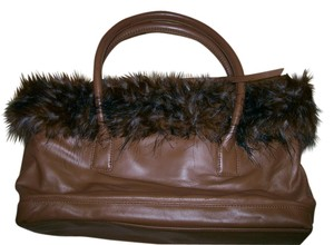 Terry Lewis Leather Satchel in Brown