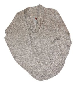 Ibby libby Batwing Cowl Neck Heathered Gold Sweater
