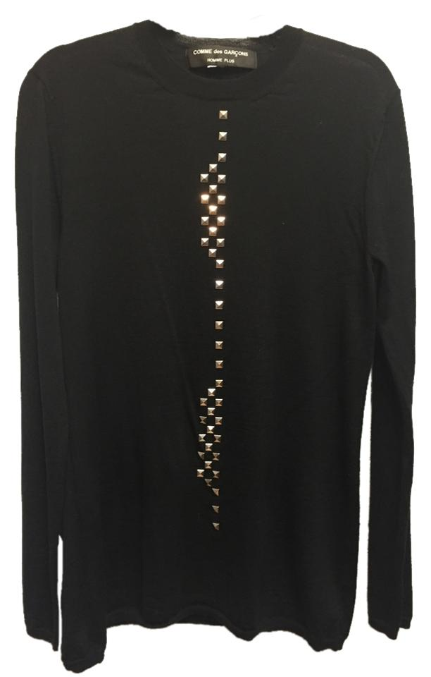 Comme Des Garçons Black With Metal Studs Sweater Tradesy