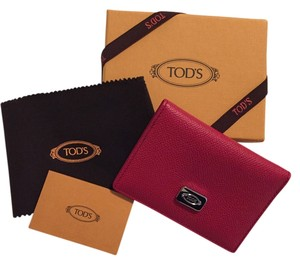 Tod's Tod's Red Leather Credit Card / ID Case