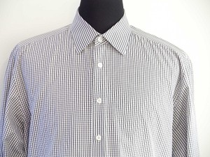 Prada Men White Check Dress Shirt