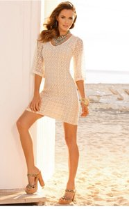 Boston Proper short dress Ivory on Tradesy