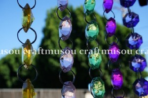 60 Feet Hanging Clear Faux Crystal Strands Glass Crystal Garlands Crystal Christmas Garland Manzanita Crystals Wishing