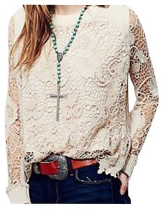 Free People Top Champaqne