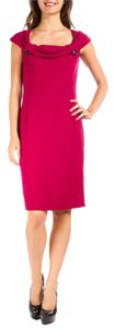 Dior Boat Neck Pink Sheath Dress