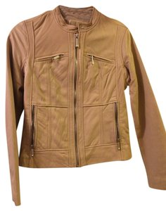 Michael Kors Tan Leather Jacket