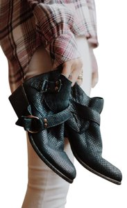 Free People Tortuga Distressed Ankle Black Boots