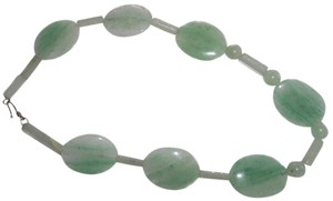 Very Large Green Jade Necklace.. 21