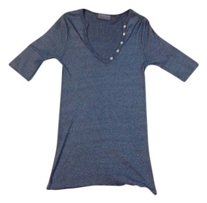 Anthropologie Anthro Designer Celeb Couture Fashion Runway Shine Top Blue