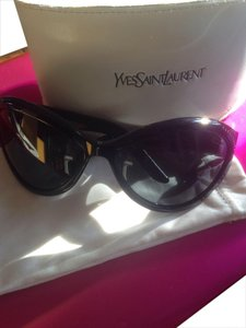 Yves Saint Laurent Black Crystal Design Cat Eye Sunglasses