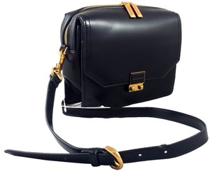 Charles & Keith Flap Enamel Lock Gold Hardware Double Zipper Classic Shoulder Bag