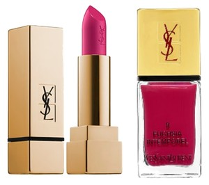 Saint Laurent Yves Saint Laurent Fuchsia Lip Stick and coordinating Nail Lacquer