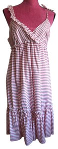 Red/White Maxi Dress by Anthropologie
