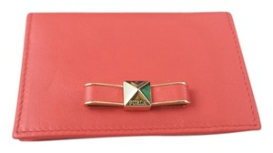 Furla Chantilly Leather Nappa Coral Clutch