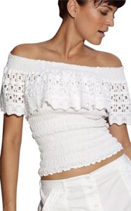 Lirome Country Western Summer Bohemian Casual Top White