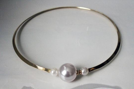 Pearl Tip Gold Tone Bib Necklace Pearl Tip Gold Tone Bib Necklace