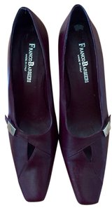 Franco Barbieri Made In Italy Classic Leather Burgundy Pumps