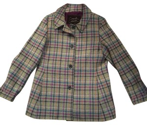 Coach Wool Tattersall Plaid Multicolor Gray 100% Wool Jacket Jackets Designer Designer Jacket Pea Coat