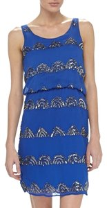 Romeo & Juliet Couture Shift Beaded Evening Sequin Dress