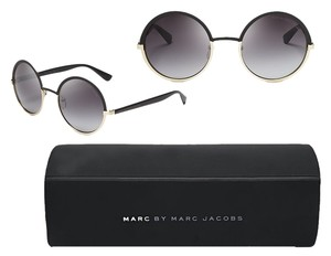 Marc by Marc Jacobs MARC BY MARC JACOBS Gold and Black metal round sunglasses