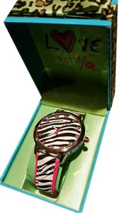 Betsey Johnson Betsey Johnson Pink, Black and White Zebra Print watch Brand NEW in Designer Box