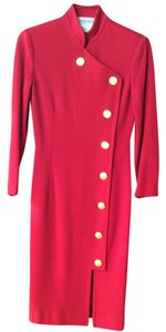 Carlisle Wool Gold Buttons Knee Length Winter Collection Dress