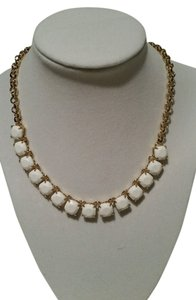 Kate Spade KATE SPADE New York Squared Away White and Gold Tone Bling Glitz Necklace NEW