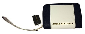 Juicy Couture Juicy Juicy Wallet Nautical Leather Wristlet in Navy blue & white